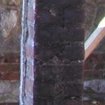 Feuer Restaurierung auf Ziegel vorher