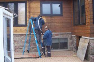 Blockhaus Restaurierung